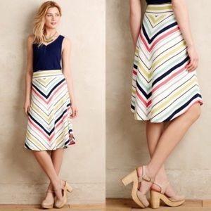 Fun & Flattering Spring Stripe Maeve Skirt